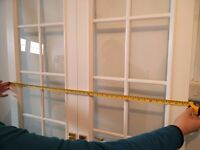 Internal French Doors, Wooden, white, glass, great condition