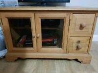 Solid pine tv unit with dovetail joints