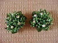 2 Green White Mistletoe Shaped Christmas Dinner Candle Holders Xmas Table Decorations Tableware