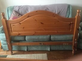 Double Wood bed frame & mattress