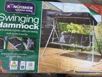Outdoor Garden Patio Mental Swinging 3 Seater Hammock
