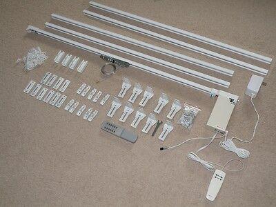 16' Remote Electric Motorized Window Treatment Drapery Curtain Rod Kit