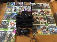 Xbox 360 with full Kinect setup and 3 working controllers. Also more than 15 Kinect and xbox games.