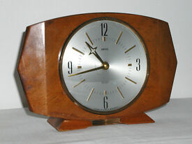 Two Smiths mantle clocks, both in excellent condition but requiring attention