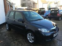 Mazda 2 5 door model 1.4ltr low mileage 53k brand new mot and freshly serviced