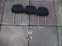 3 rear headrests for mk 4 VW Golf.