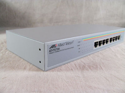 Allied Telesyn AT-FS708-EMC 8-port Fast Ethernet Switch 100 Mbps