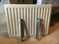 Radiator, working condition clean and sound, with brackets, stop ends and bleed valve