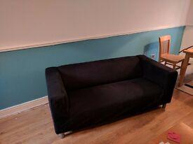 Ikea klippan sofa - black