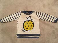 NEXT fine knit jumper in excellent condition age 18-24 months