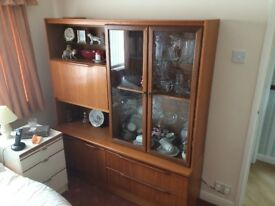 Large Teak display cabinet