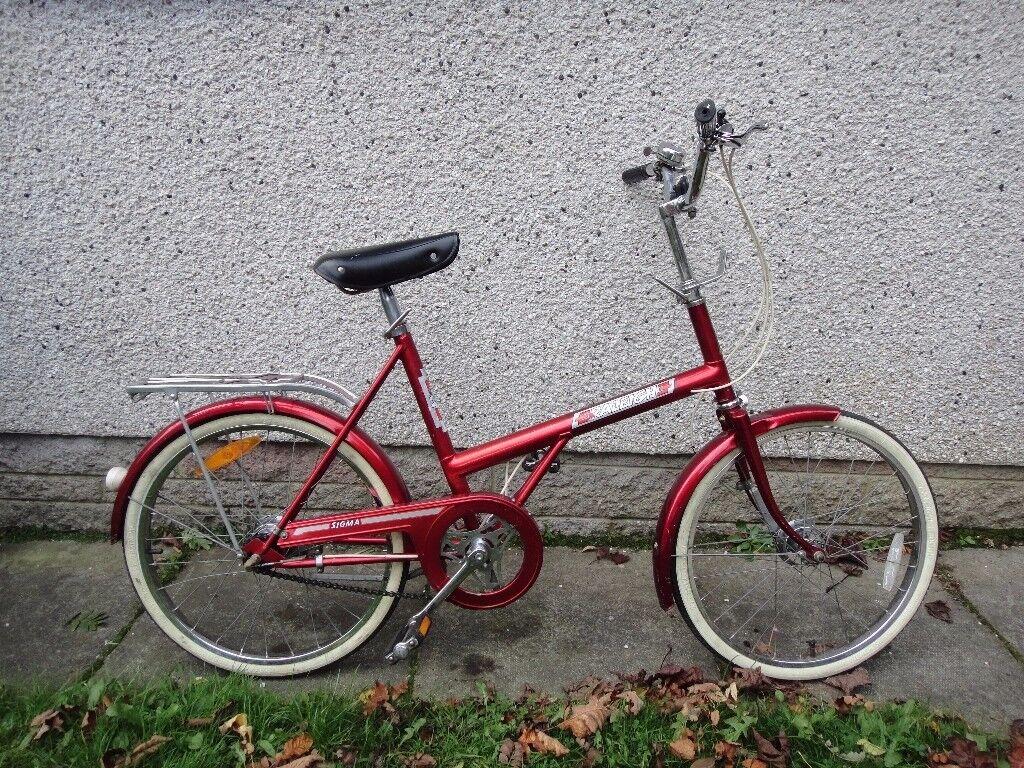 Vintage retro 1979 Raleigh sigma Shopper retro red bike 20 inch wheels 3 Sturmey Archer gears