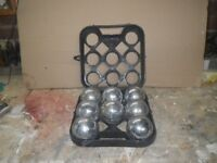 set of 8 steel boules and carry case