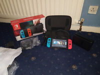 Nintendo Switch 32GB Neon Red/Neon Blue Console Boxed (13 Games & Carry Case) Fortnite