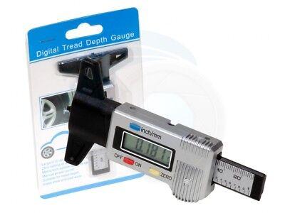 Digital Lcd Tire Tread Depth Gauge 0-25.4mm Measuring Metric Imperial