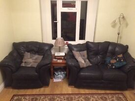 Black leather sofas for sale!