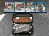 PlayStation Vita - *8GB* - *Great Condition* - *Carry Case* - *With 4 Games*