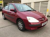 HONDA CIVIC 1.4 SE /FULL STAMPED SERVICE HISTORY/GREAT CONDITION/ £750