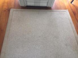 Large cream wool rug