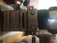Technics surround sound amp and speakers 5