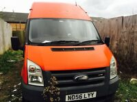 56 plate hi top lwb ford transit tax and long mot