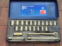 Socket Set, 24 Pieces