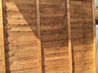 Fence panel six foot x five foot high new plus seven foot post new