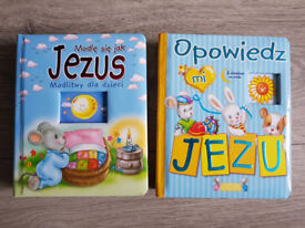 Religious books for kids in Polish language.