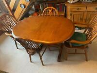 Solid Wooden Farmhouse dining table chairs