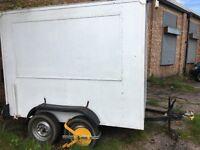 Box Trailer Large twin axle 7'6 long, 4'8 wide, 5'10 high