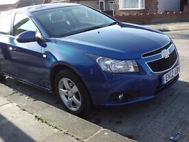 2012 Chevrolet Cruze LT. Low milage, Excellent condition, 1 Lady Owner, Metallic Blue, Alloy wheels