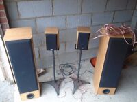 ELTAX Xtreme 400 Main and Bookshelf speakers with Stands.