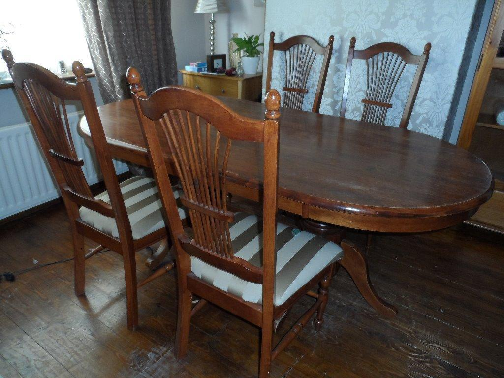 LARGE OVAL DINING TABLE AND 4 HIGH BACKED CHAIRS in  : 86 from www.gumtree.com size 1024 x 768 jpeg 113kB