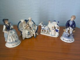 Blue and white china ornaments