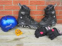 Inline Skates Chaos Blade skates Size 6 + Helmet + Knee & elbow armor + Anarchy back pack
