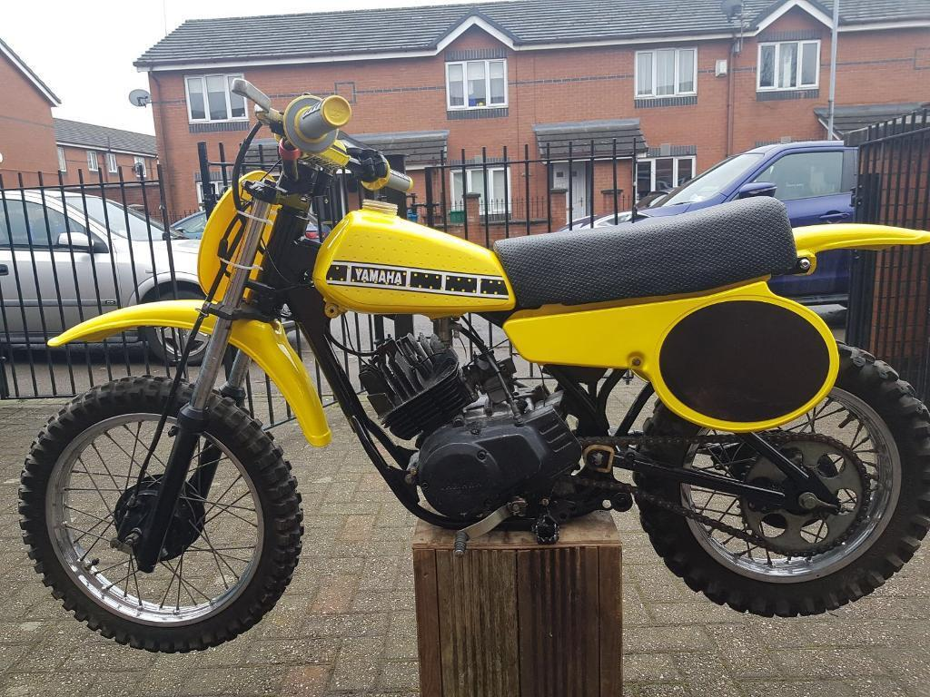 YAMAHA YZ50 NEW YELLOW # PLATE WITH BLACK BACKGROUND VINTAGE MOTOCROSS