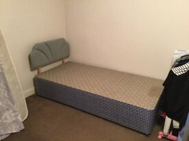 Single bed base and single bed headboard