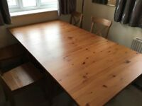 Solid Wooden Folding Table and Chairs