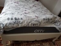 OTTY MAttress Double with 2 Otty Pillows and beautiful double ivory bedframe.