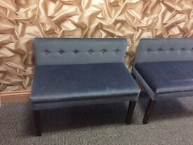 10 lovely blue bench seats ideal for pub bar or lounge area