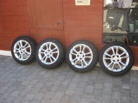 Alloy wheels all with new tyres 195/55 R 1691 Genuine Vauxhall