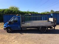 FORD TRANSIT 135 t350 2.4 DIESEL 2004 04-REG DROPSIDE TRUCK WITH TAIL-LIFT DRIVES EXCELLENT