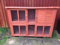 Extra large 2 tier rabbit / guinea pig animal hutch