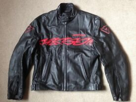 Dainese men's motorcycle leather jacket