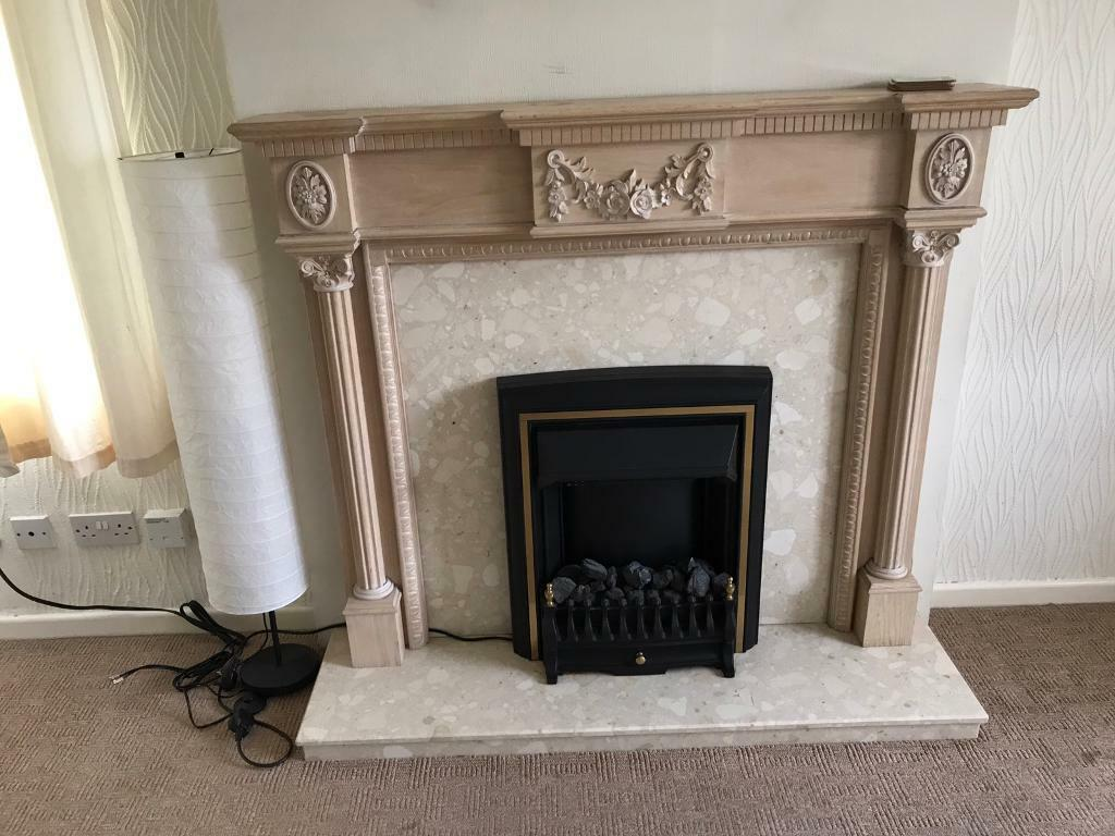 adams style fireplace surround marble with electric coal effect