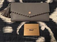 Grey Leather Paul Costelloe Purse 👛