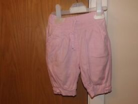 Girls Cropped Trousers Age 9-12 Months