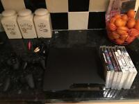 PS3 3 controllers and games