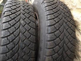 snow tyres 185/70R14 light van as new