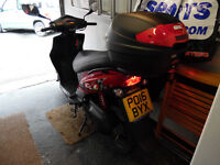 2016,Kymco Scooter,DJ50S-,Mature Owner Hardly used 268mls only,Immaculate!Always Garaged,Givi Topbox